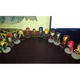 Justice League Avengers Ironman Wonder Woman Batman Flash Superman