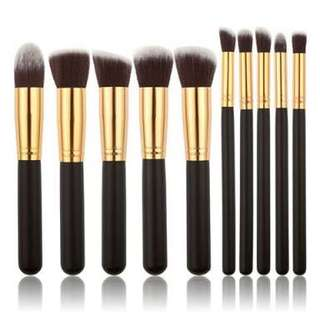 10pc Kabuki Brush Set