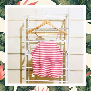 Striped Salmon Pink Cami Top