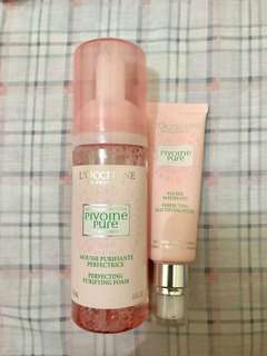 L'occitane pivoine perfecting foam & liquid