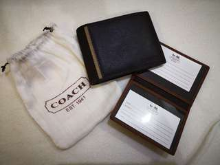 Authentic Coach men's wallet