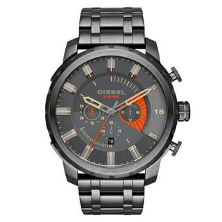 STRONGHOLD CHRONOGRAPH GREY DIAL GREY ION-PLATED MEN'S WATCH DZ4348