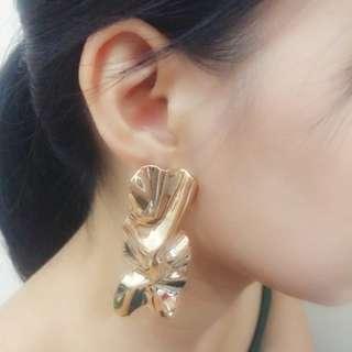 Refurb Wrinkled Metal sheet earrings
