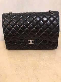 正品 保證正貨(連盒、塵袋)Chanel Maxi Classic Handbag  袋 經典 菱格羊皮 95% 新