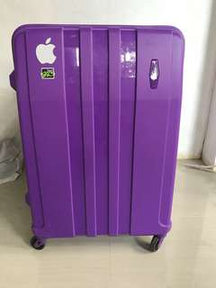 Purple Luggage with free bag bought in SM