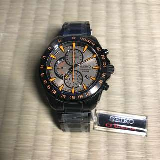 Seiko 男裝 橙針 限量版 with NATO Strap
