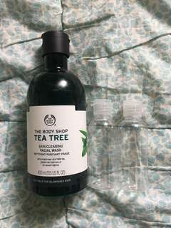 NEW THE BODY SHOP TEA TREE FACIAL WASH - SHARE IN JAR