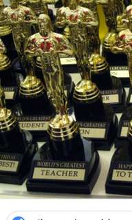 World best Teacher trophy