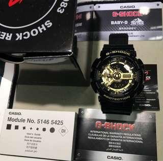 代購 少見日本製G 香港 行貨 正品 日本品牌手表⌚️ Casio G-Shock GA-110GB-1ADR