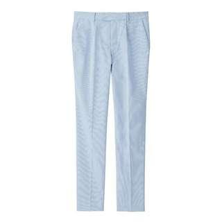 全新 吊牌未拆 Gu  g.u. Kim Jones 窄管褲 休閒褲 xl 淺藍 水藍 條紋