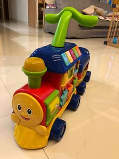 Train walker for baby