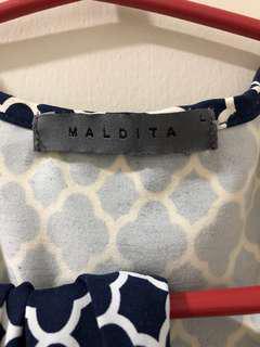 Maldita dress size Large printed
