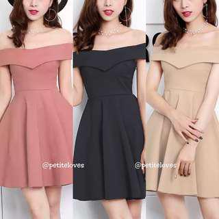 Sherrie Overlay Off Shoulder Dress