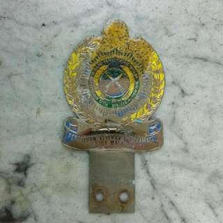 Persatuan Veteran Keselamatan Negara Malaysia Car Badge Vintage