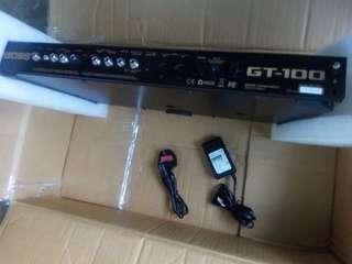 BOSS GT-100 multi effects processor version 2.10 for sale!!
