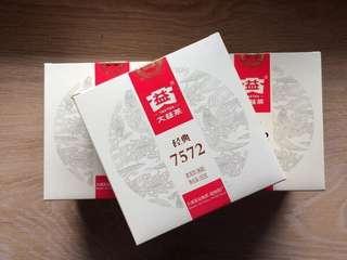 聽雨樓:普洱熟茶:2015年大益經典7572小餅 (150克)