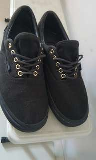 Vans era all black gold sz 11(44.5) mulus