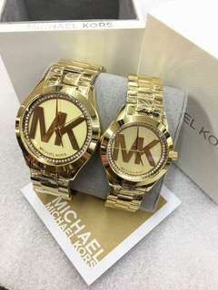 MK LOGO GOLD AUTHENTIC WATCH