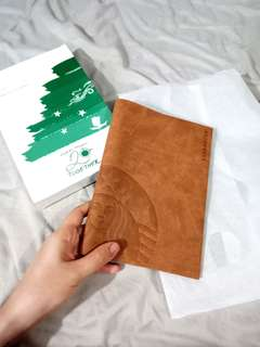 Starbucks leather sleeve