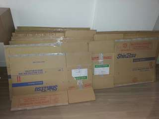 Cardboard boxes for moving / storage