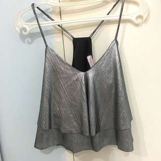 Silver Party Top
