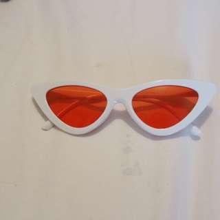 White cat eye shades