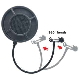 (613)Flexible Windshield Mic Pop Filter Shield Cover for Speaking Karaoke Singing