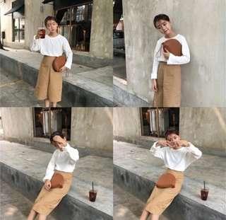 🚚 卡其色窄裙👗