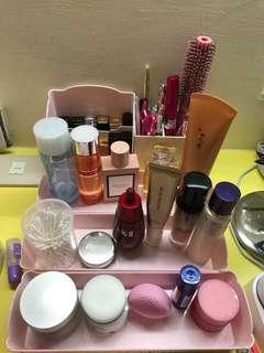 🚚 「免運」化妝品收納盒五件套 粉色花雕超級公主