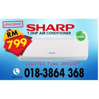 NEW SHARP 1.0hp Aircon RM799 only~