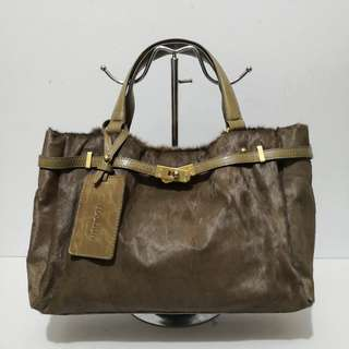 Rookism by Rookie Rad Brown Ponyhair and Leather Handbag