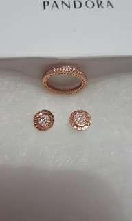 Pandora Ring and earring set