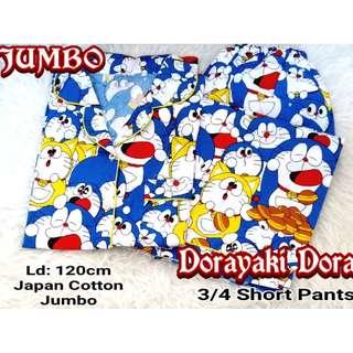 Piyama / Baju Tidur JUMBO DORAEMON - Katun Jepang NP 3/4
