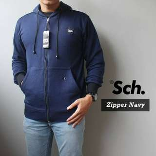 SWEATER SCH ZIPPER NAVY