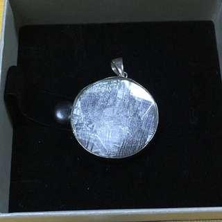 30mm大天鐵/鎳鐵隕石 6芒星白水晶包裹