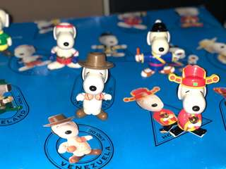 1999 Macdonald Snoopy World Tour Collectible Toys
