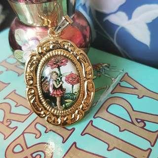 Art deco glass fairy cameo