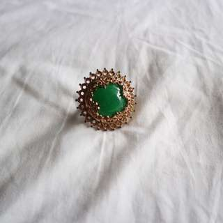 Big green cocktail ring