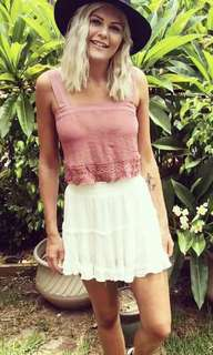 Pink Frill Lace Singlet