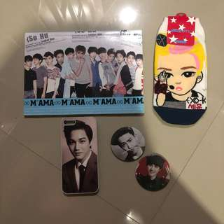 Assorted EXO Unofficial Goods