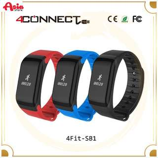 4CONNECT 4Fit SB-1 Smartwatch Blood Pressure and Oxigen Monitorm Waterproof