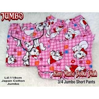 Piyama / Baju Tidur JUMBO MARIE CAT - Katun Jepang NP 3/4