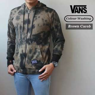 SWEATER DISTRO VANS COLOUR WASHING BROWN CAROB
