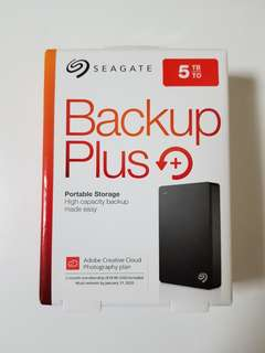 External Portable Hard Disk, Seagate Back up Plus, 5TB, Brand New