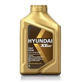 Hyundai Engine Oil For Gas & Diesel | XTeer TOP 5W40 100% Synthetic - 1 Liter