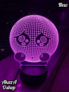 Lampu Hias LED 3D Bola Lucu