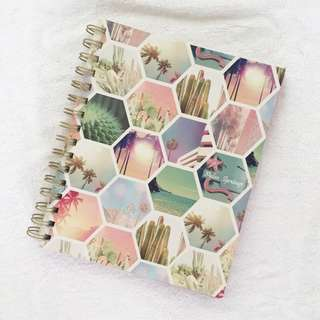 Typo Notebook- Palm Springs Hexe Collage