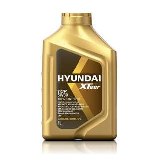 Hyundai Engine Oil For Gas & Diesel | XTeer TOP 5W30 100% Synthetic - 1 Liter