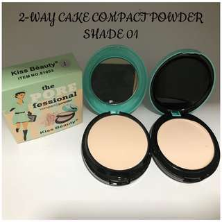 KISS BEAUTY TWO WAY CAKE FACE POWDER (COMPACT POWDER/CREAM FOUNDATION)