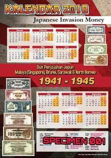Kalendar Numismatik Duit Penjajahan Jepun 2018